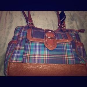 Chaps Plaid Madras Handbag